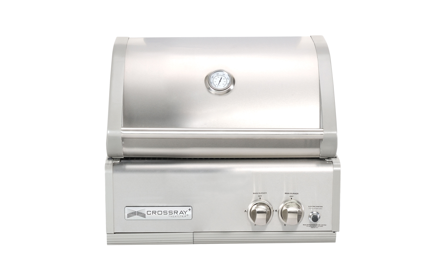 2 Burner Gas BBQ Inbuilt